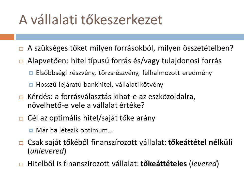 """Osztalékpolitika (III.)  Az osztalékfizetés formái:  Évi rendes osztalék, készpénzben  Évi rendkívüli osztalék, készpénzben  Osztalékrészvény (stock dividend) Nincs pénzkifizetés, a meglévő részvényesek számára ellenérték nélkül juttat részvényt a vállalat A forgalomban lévő részvények darabszáma megnő, de a vállalat vagyona nem változik → a részvényárfolyam csökken (de a részvényesek vagyoni helyzete nem változik) Megegyező hatású: címletmegosztás (stock split)  Más mód a """"kifizetésre : részvény-visszavásárlás (pl."""