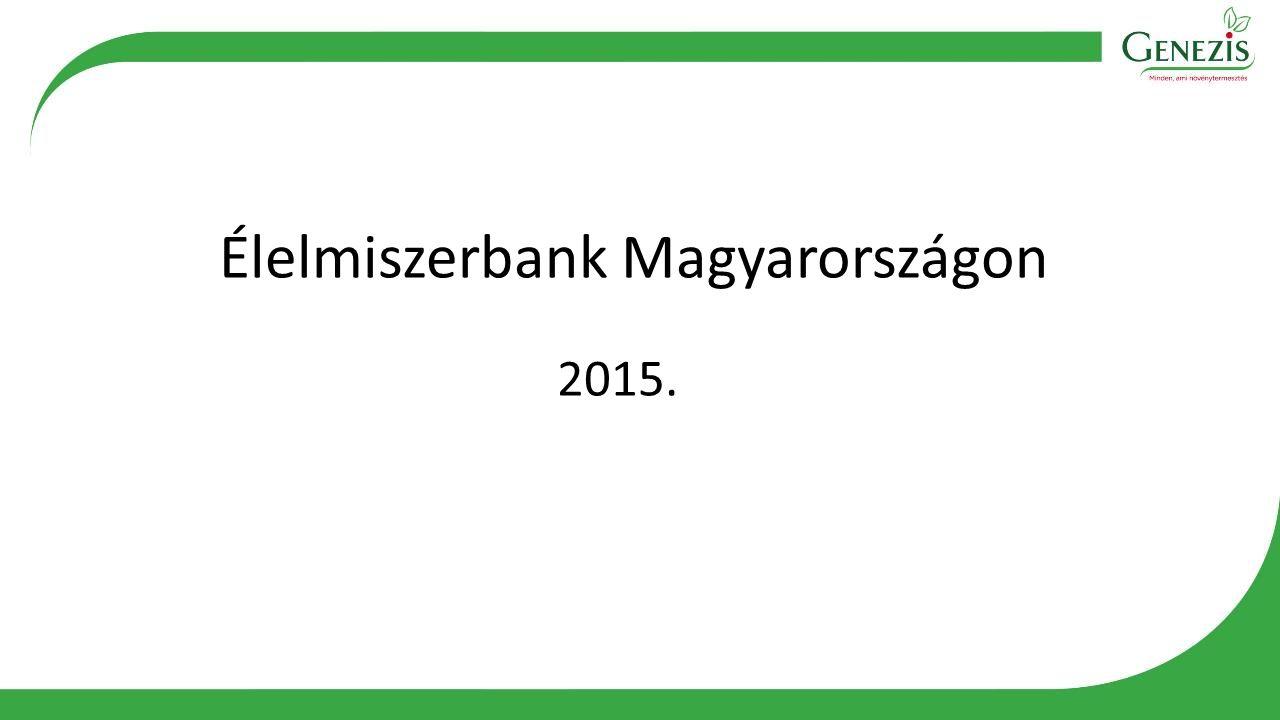 Élelmiszerbank Magyarországon 2015.
