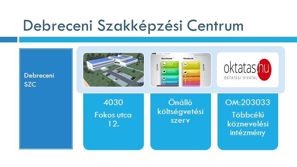 Debreceni Szakképzési Centrum Debreceni SZC 4030 Fokos utca 12. Önálló költségvetési szerv OM:203033 Többcélú köznevelési intézmény