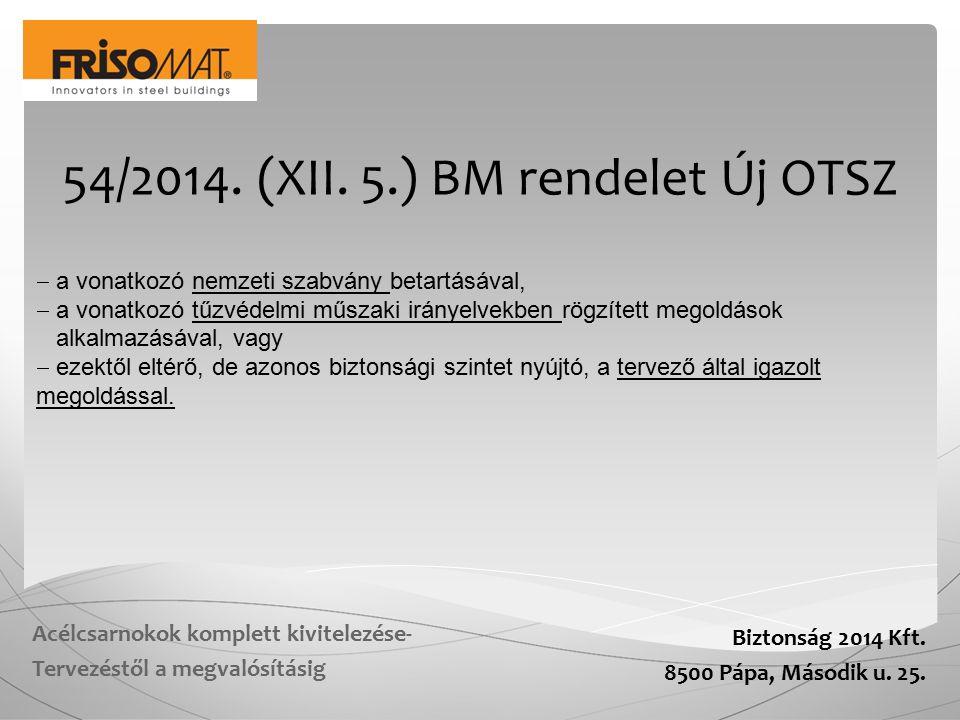 Biztonság 2014 Kft.8500 Pápa, Második u. 25.