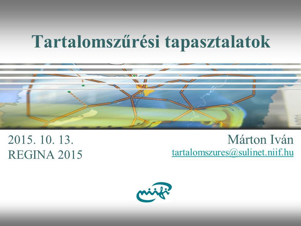 Nemzeti Információs Infrastruktúra Fejlesztési Intézet Sulinet tartalomszűrés 2.