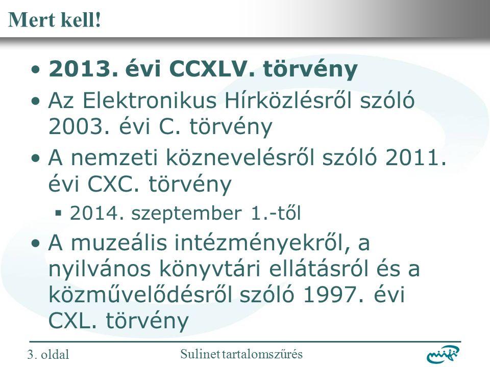 Nemzeti Információs Infrastruktúra Fejlesztési Intézet Sulinet tartalomszűrés 24.