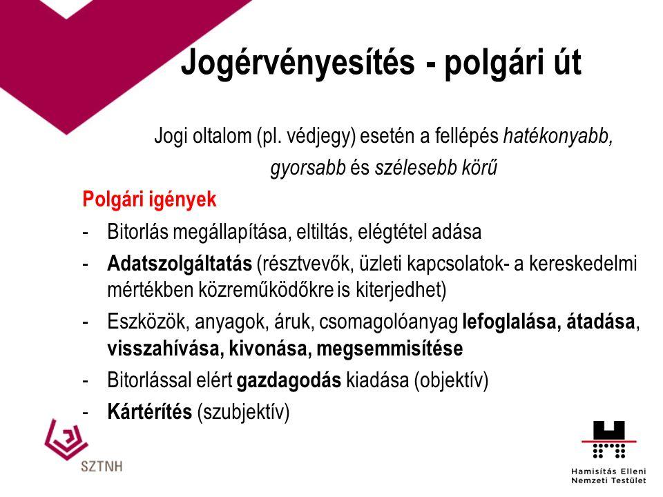 Jogérvényesítés - polgári út Jogi oltalom (pl.