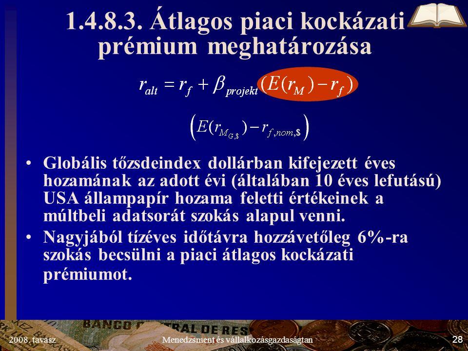 2008. tavasz28Menedzsment és vállalkozásgazdaságtan 1.4.8.3.