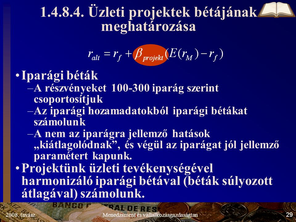2008. tavasz29Menedzsment és vállalkozásgazdaságtan 1.4.8.4.