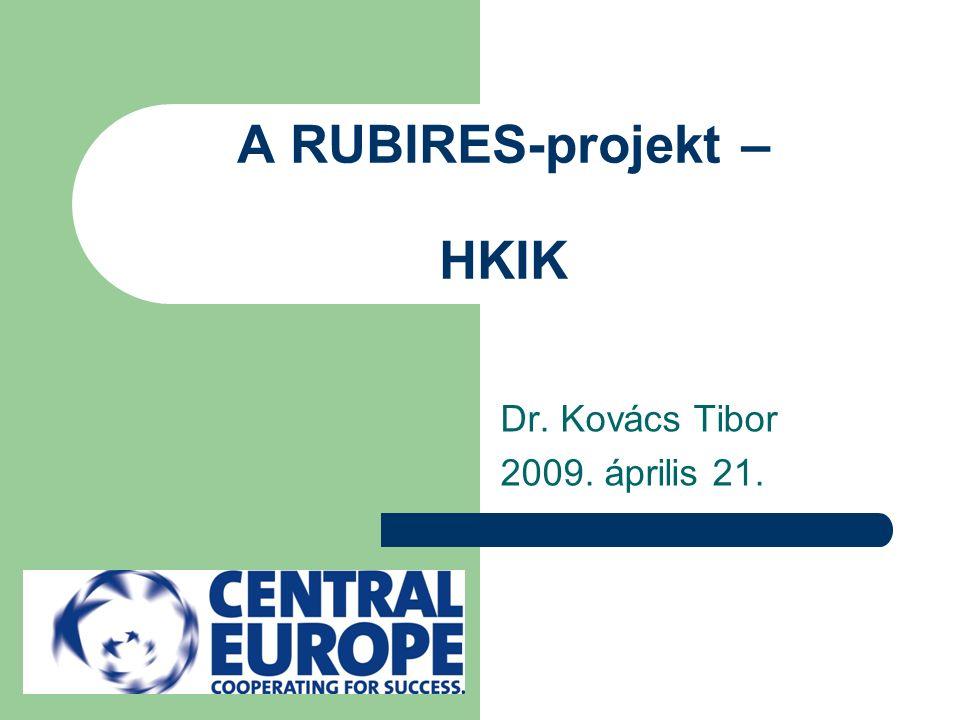 A RUBIRES-projekt – HKIK Dr. Kovács Tibor 2009. április 21.