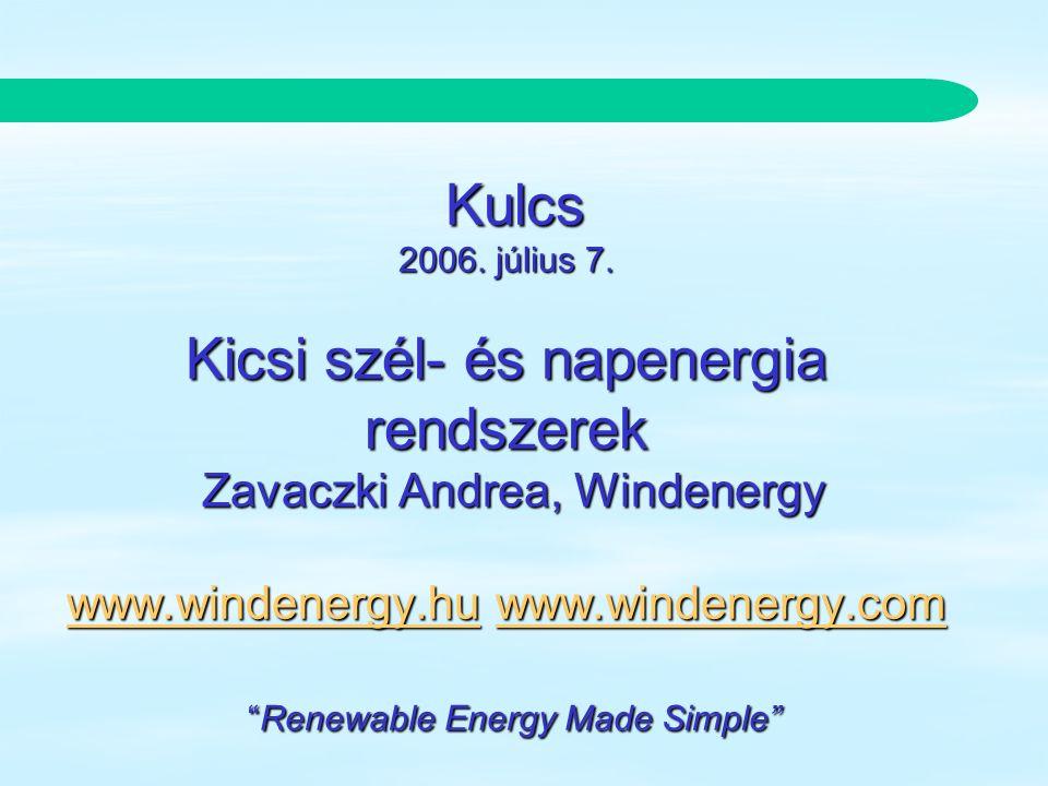 Southwest Windpower Renewable Energy Made Simple szél / nap Napsugárzás tél nyár szélenergia