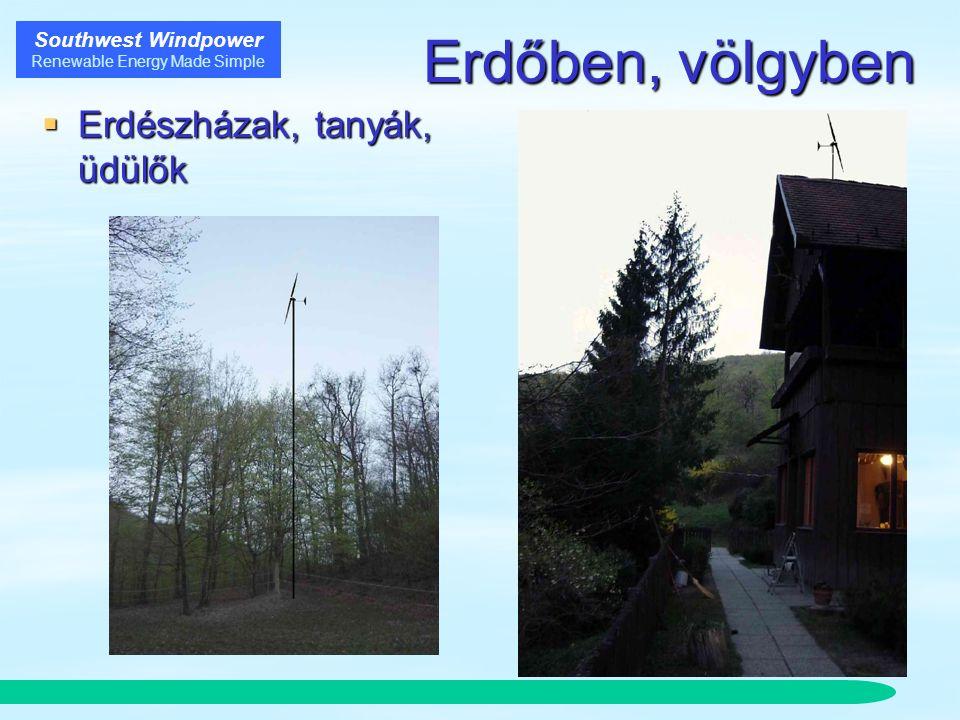 Southwest Windpower Renewable Energy Made Simple Erdőben, völgyben  Erdészházak, tanyák, üdülők