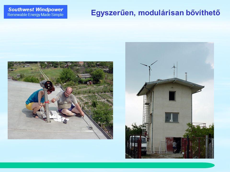 Southwest Windpower Renewable Energy Made Simple Egyszerűen, modulárisan bővíthető