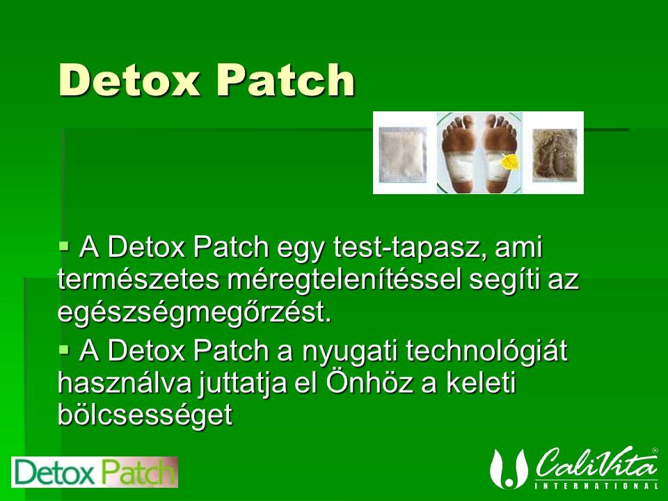  A Detox Patch egy test-tapasz, ami természetes méregtelenítéssel segíti az egészségmegőrzést.