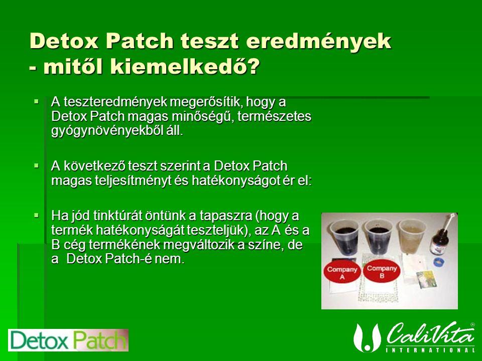 Detox Patch teszt eredmények - mitől kiemelkedő.