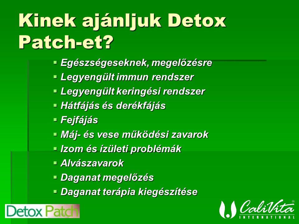 Kinek ajánljuk Detox Patch-et.