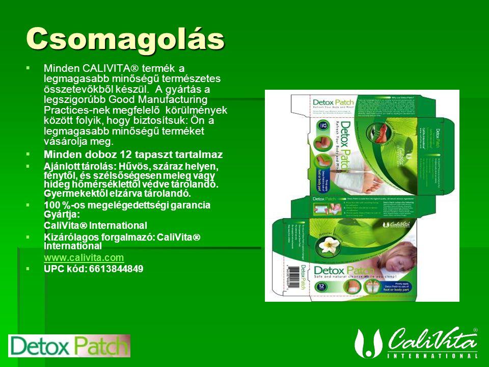 Csomagolás   Minden CALIVITA  termék a legmagasabb minőségű természetes összetevőkből készül.