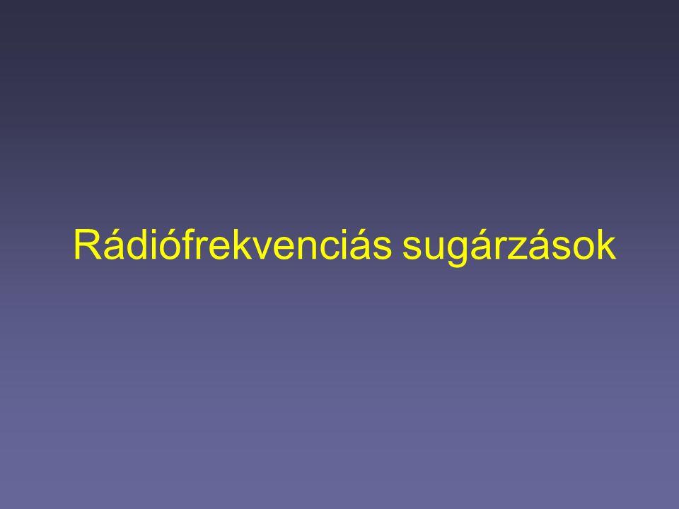 Rádiófrekvenciás sugárzások