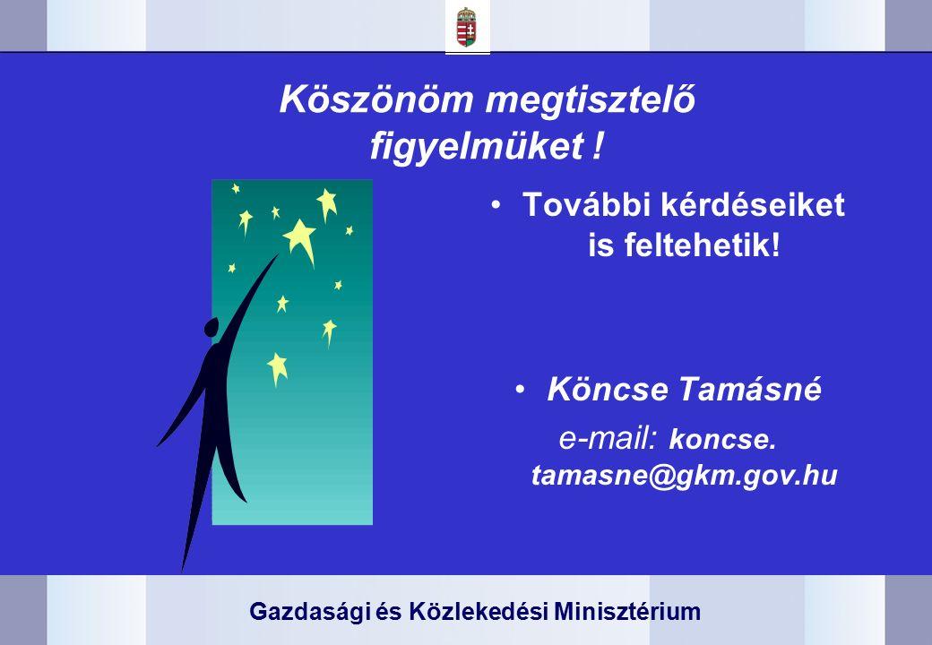 Gazdasági és Közlekedési Minisztérium Köszönöm megtisztelő figyelmüket .