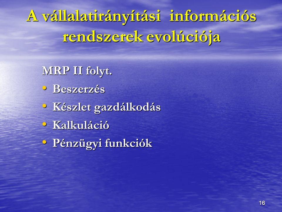 16 MRP II folyt.