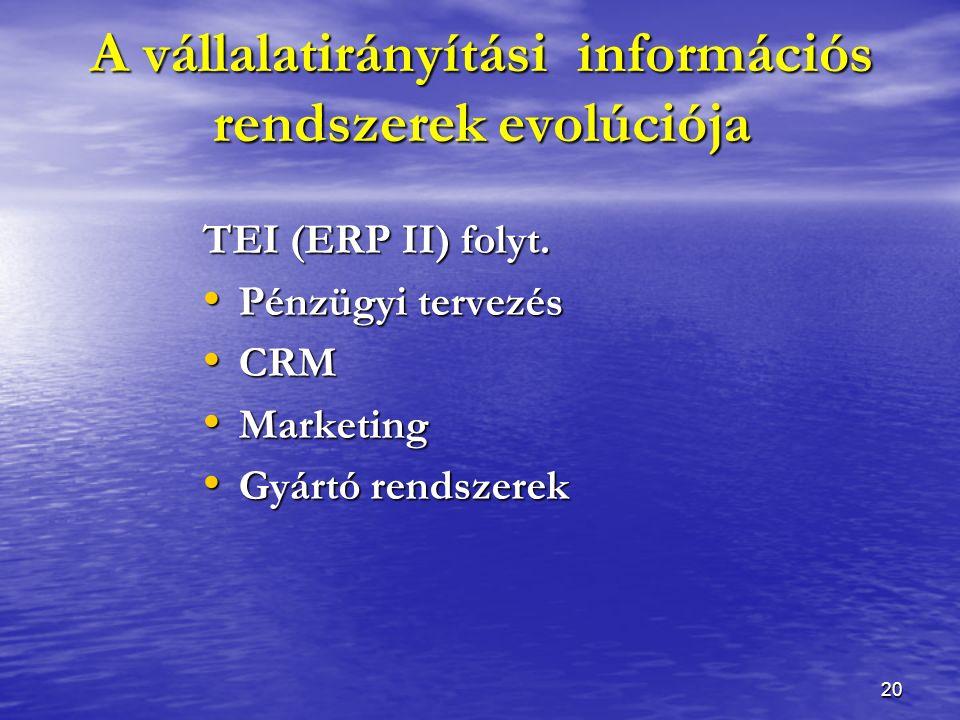 20 TEI (ERP II) folyt.