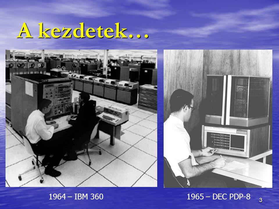 3 A kezdetek… 1964 – IBM 3601965 – DEC PDP-8