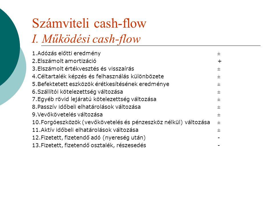 Számviteli cash-flow I.