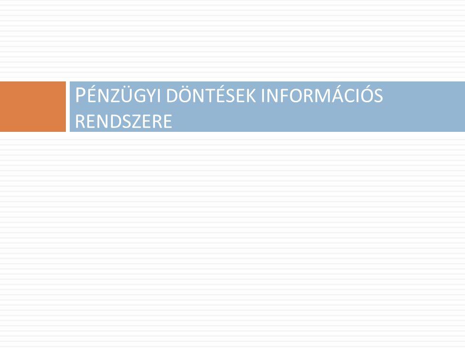 P ÉNZÜGYI DÖNTÉSEK INFORMÁCIÓS RENDSZERE