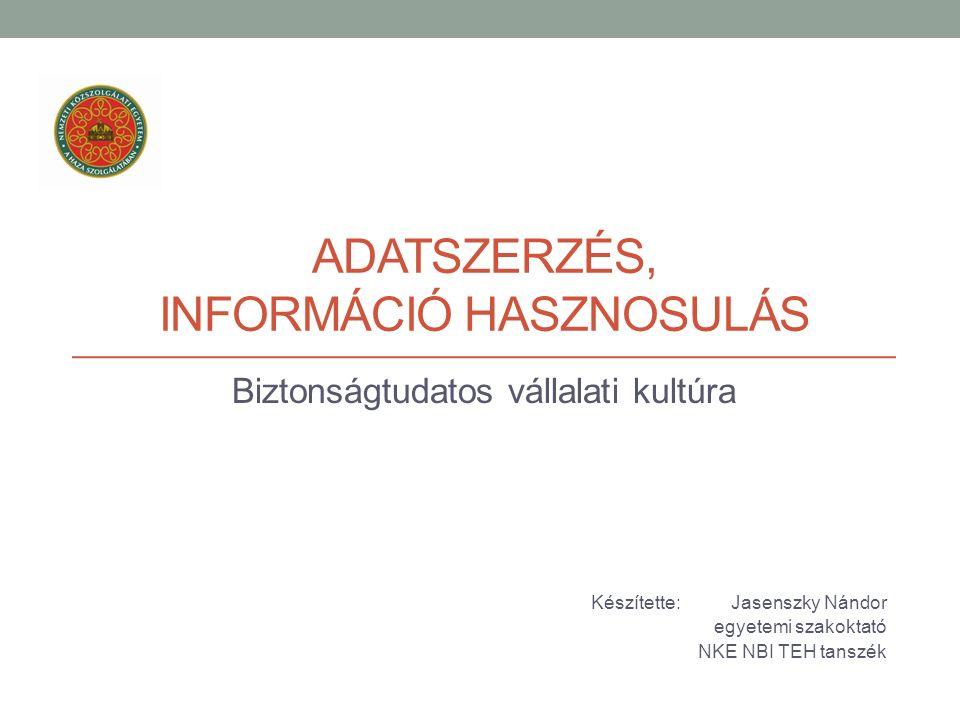 A belső információk kezelésének kulcsai: Karbantartott és folyamatosan frissített adatbázis; Belső információforrások bevonása az információs rendszerbe.