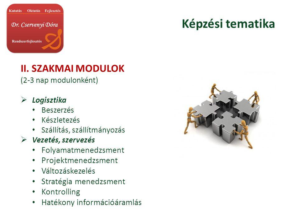 Képzési tematika II.