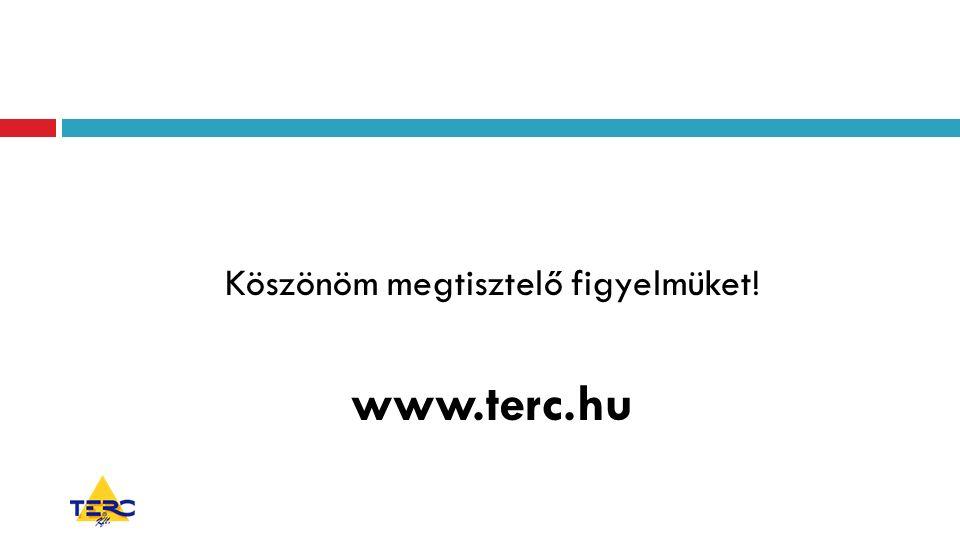 Köszönöm megtisztelő figyelmüket! www.terc.hu