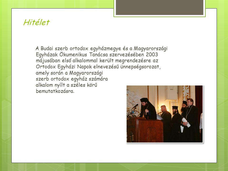 A Budai szerb ortodox egyházmegye és a Magyarországi Egyházak Ökumenikus Tanácsa szervezésében 2003 májusában első alkalommal került megrendezésre az Ortodox Egyházi Napok elnevezésű ünnepségsorozat, amely során a Magyarországi szerb ortodox egyház számára alkalom nyílt a széles körű bemutatkozásra.