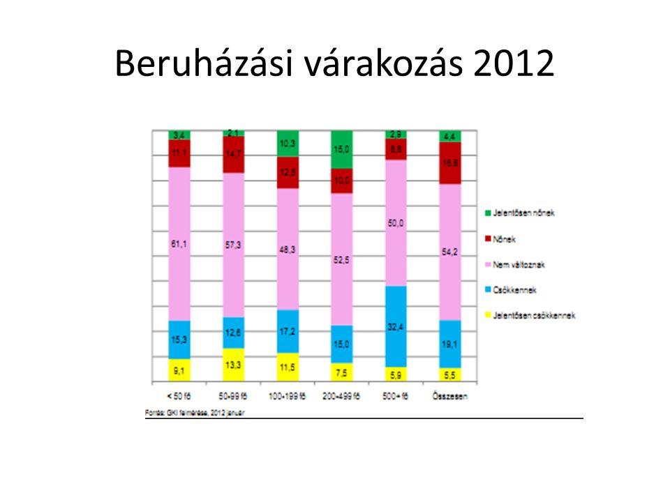 Beruházási várakozás 2012