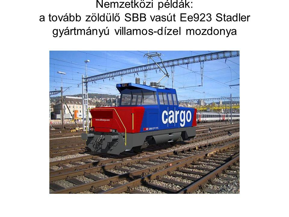 Nemzetközi példák: a tovább zöldülő SBB vasút Ee923 Stadler gyártmányú villamos-dízel mozdonya