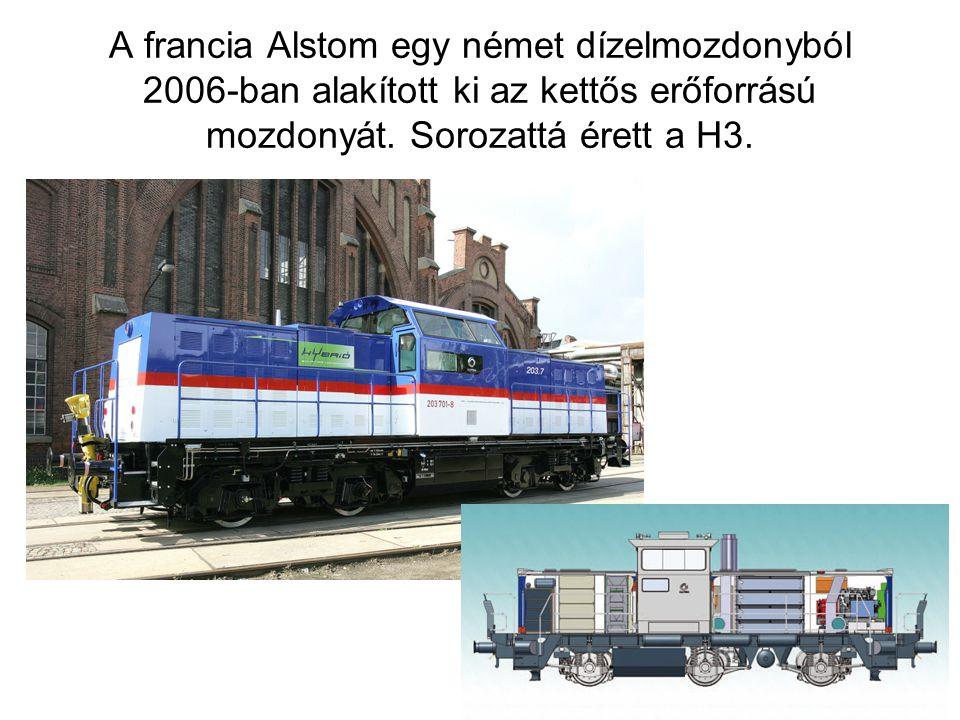 A francia Alstom egy német dízelmozdonyból 2006-ban alakított ki az kettős erőforrású mozdonyát.