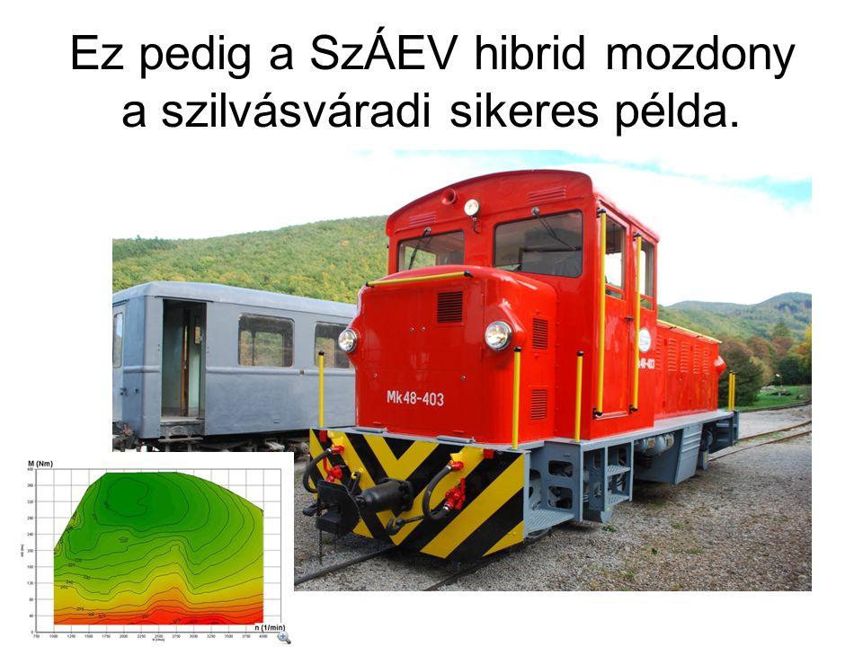 Ez pedig a SzÁEV hibrid mozdony a szilvásváradi sikeres példa.