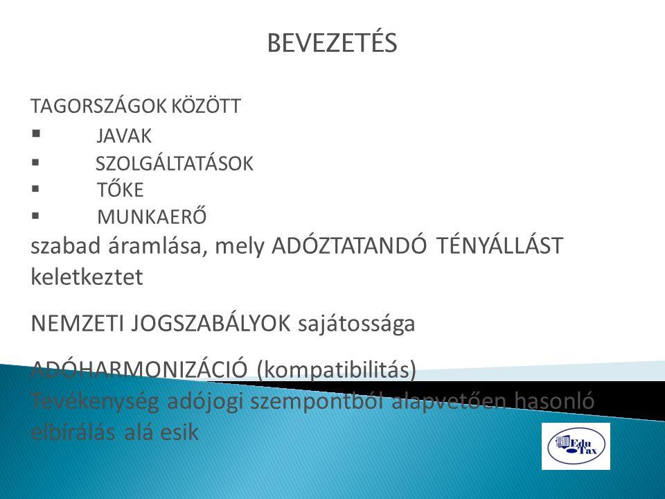 Jövedelem és vagyon csoportjai az adóztatás szempontjából a) Korlátozás nélkül adóztatható a forrásállamban (pl.