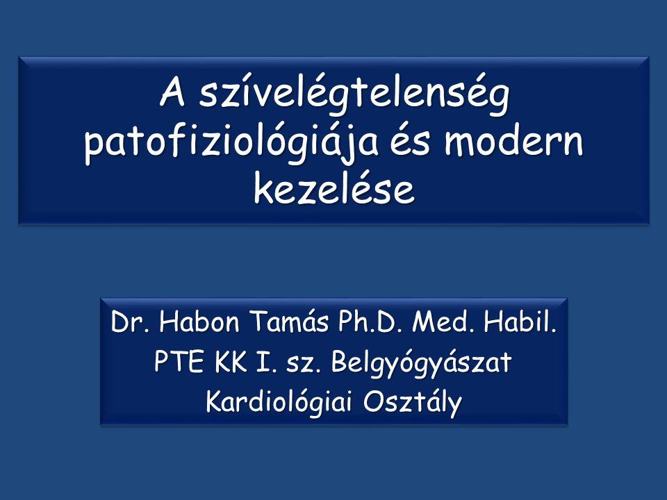 A szívelégtelenség patofiziológiája és modern kezelése Dr.