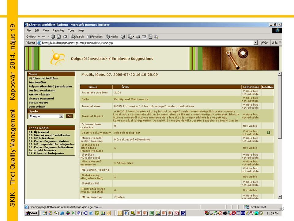 SKIK – Thot Quality Management Kaposvár 2014. május 19. 56