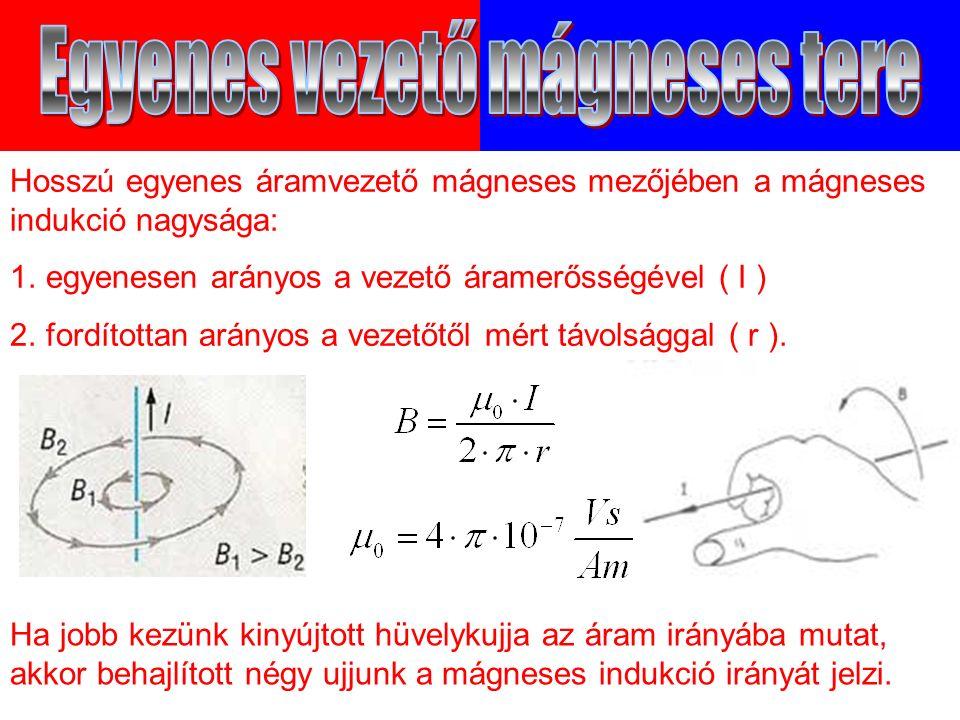Ha jobb kezünk kinyújtott hüvelykujja az áram irányába mutat, akkor behajlított négy ujjunk a mágneses indukció irányát jelzi.