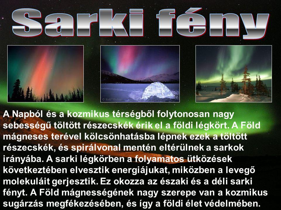 A Napból és a kozmikus térségből folytonosan nagy sebességű töltött részecskék érik el a földi légkört.