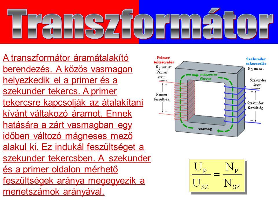 A transzformátor áramátalakító berendezés.