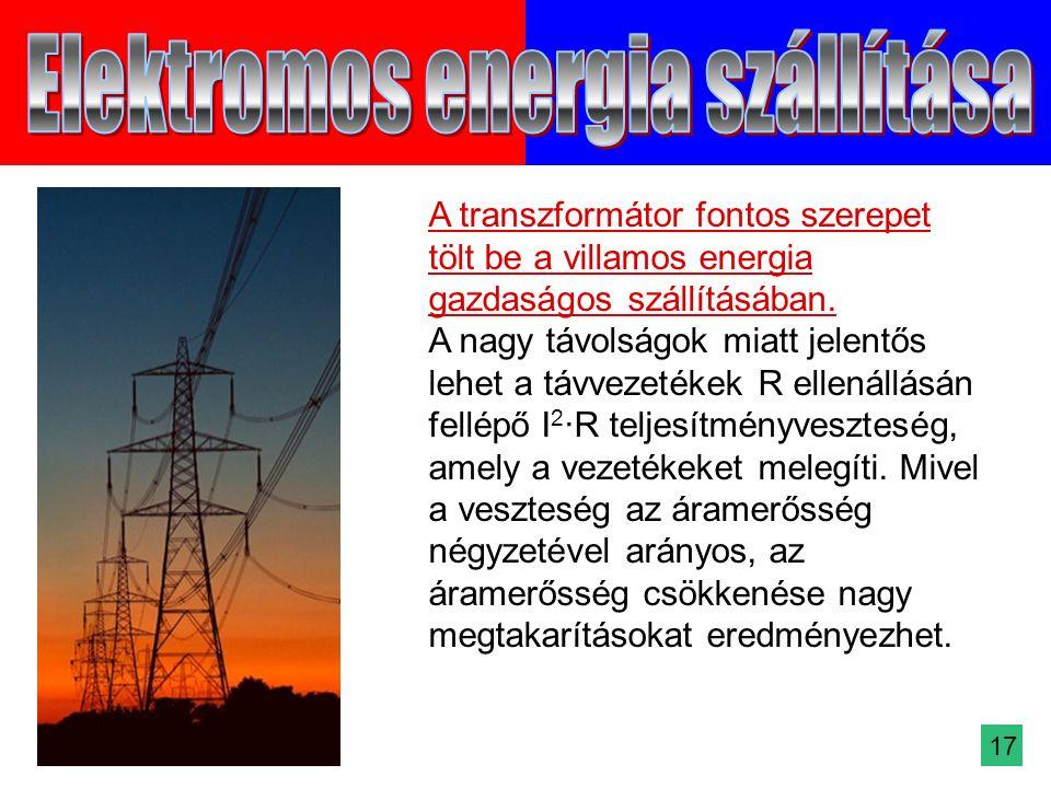 A transzformátor fontos szerepet tölt be a villamos energia gazdaságos szállításában.