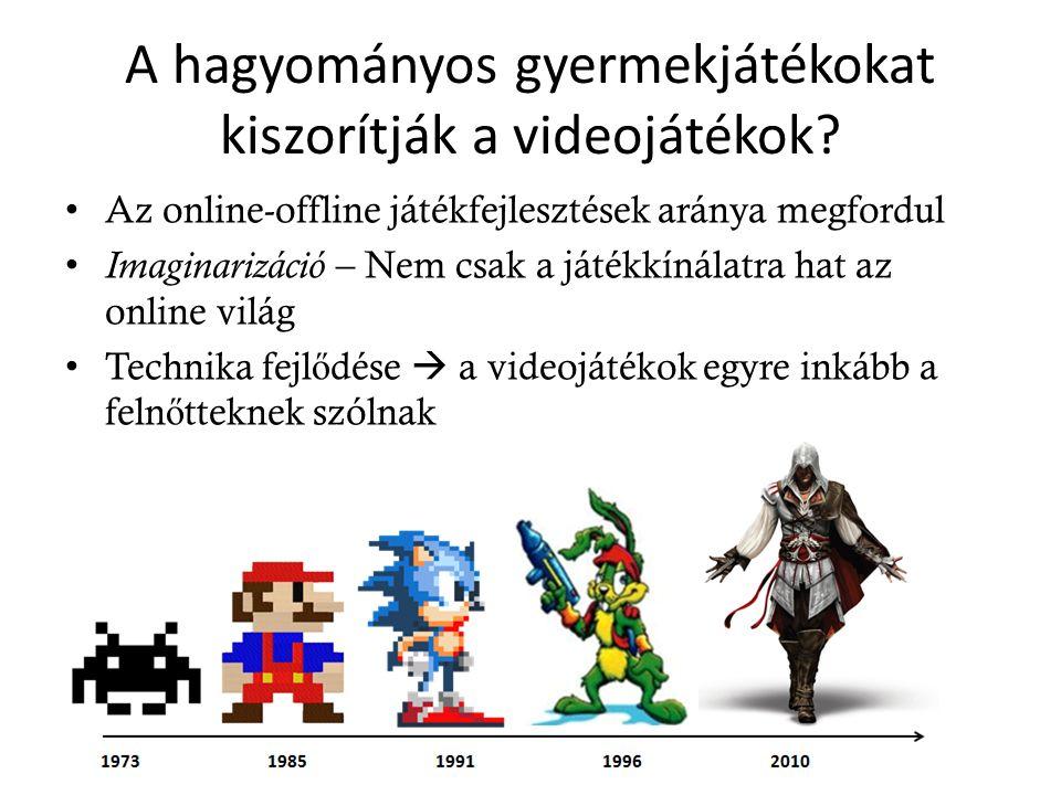 A hagyományos gyermekjátékokat kiszorítják a videojátékok.