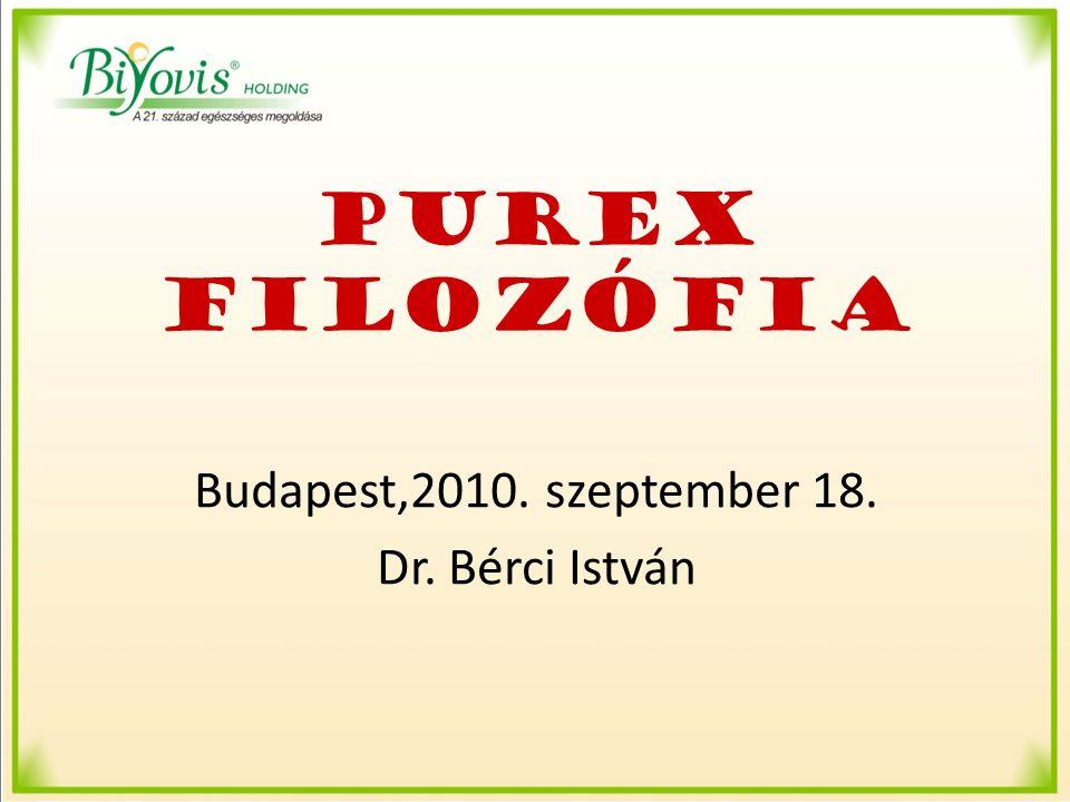 PUREX FILOZÓFIA Budapest,2010. szeptember 18. Dr. Bérci István