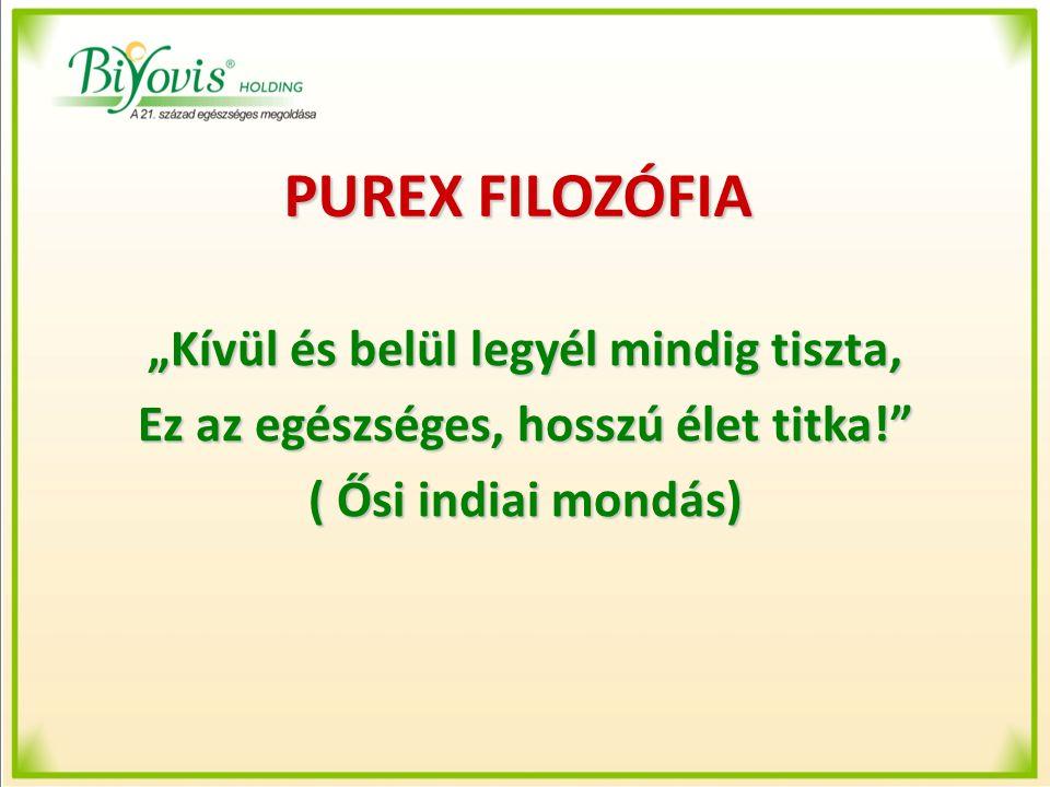 PUREX Phase-1 Program PUREX Phase-1 Rostkoncentrátum A PUREX Phase-1 Rostkoncentrátum összetevői: Psyllium maghéj őrlemény Koncentrált, tisztított almarost Koncentrált, tisztított alma pektin Inulin (Frukto-oligo-szacharida,FOS) Koncentrált, tisztított narancsrost Természetes zöldalma aroma