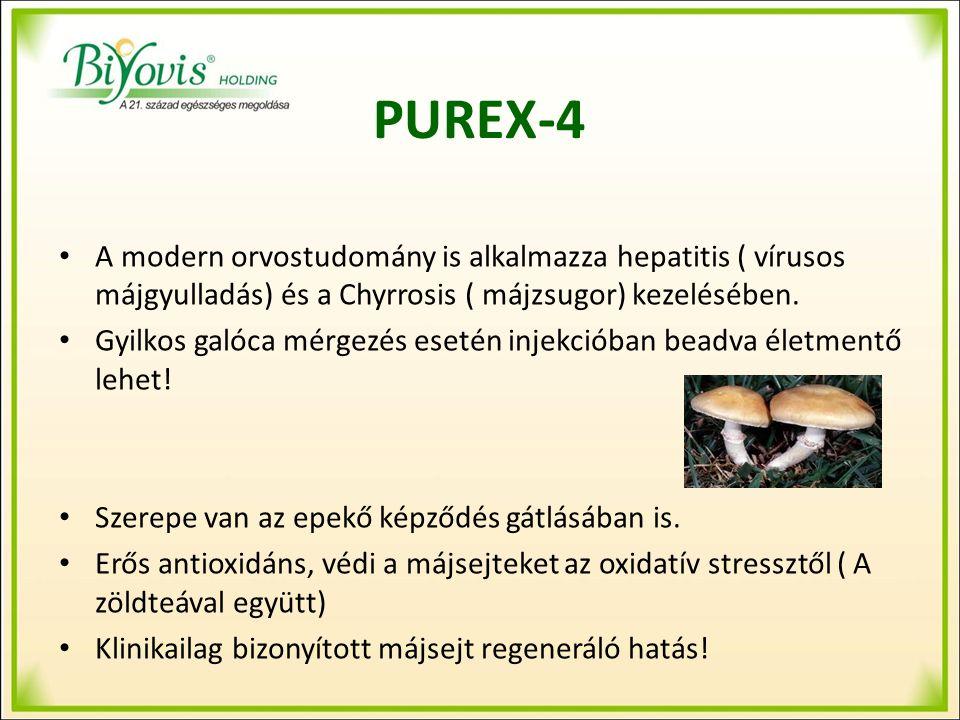 PUREX-4 A modern orvostudomány is alkalmazza hepatitis ( vírusos májgyulladás) és a Chyrrosis ( májzsugor) kezelésében.