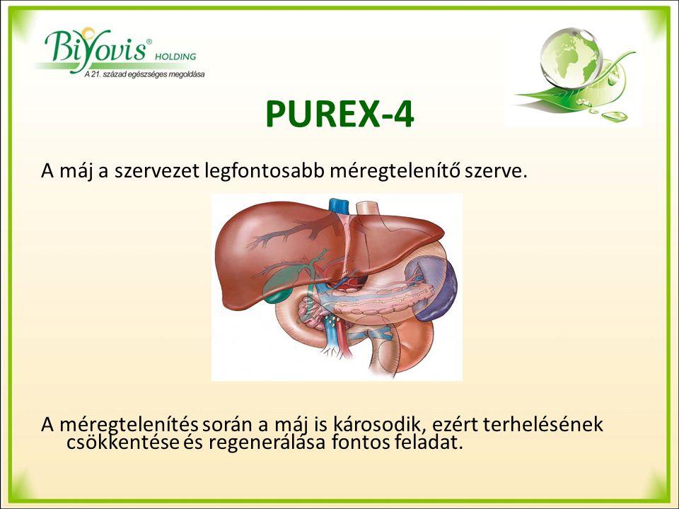 PUREX-4 Szerepe: A máj igénybevett, esetleg már károsodott szövetállományának regenerálása, a normál funkciók helyreállítása
