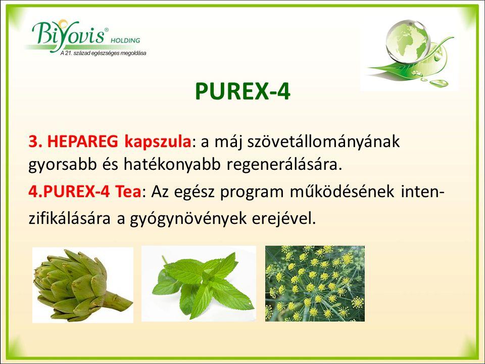 PUREX-4 3. HEPAREG kapszula: a máj szövetállományának gyorsabb és hatékonyabb regenerálására.