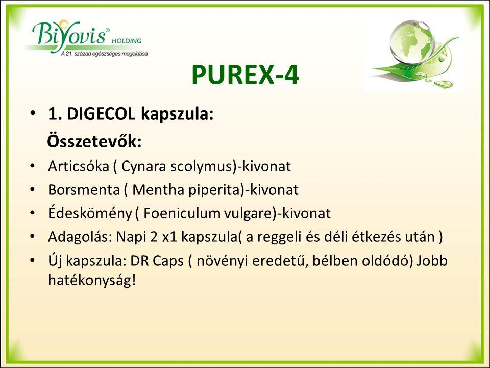 Purex-4 Ugyanúgy behálózza a testünket, mint az érrendszer Elősegíti a szervezet megtisztulását a káros lerakódásoktól, testidegen anyagoktól, sejtmaradványoktól A sejtek jó működésének előfeltétele a sejtek közötti tér tisztulásának gyorsasága és hatékonysága A károsodott máj nem megfelelően méregtelenít, méreg és salakanyagok kerülnek a nyirokrendszerbe, a nyirokrendszer elzáródik, a nyirokcsomók nem tudják semlegesíteni ezeket az anyagokat, ezek felhalmozódnak és betegségeket okoznak