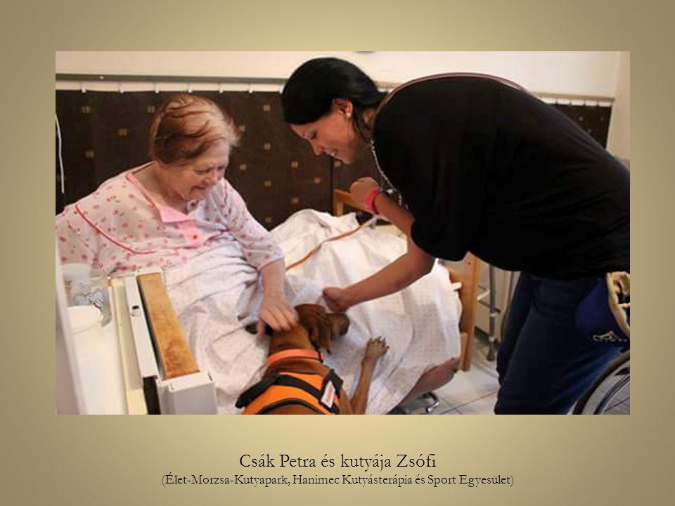 Csák Petra és kutyája Zsófi (Élet-Morzsa-Kutyapark, Hanimec Kutyásterápia és Sport Egyesület)
