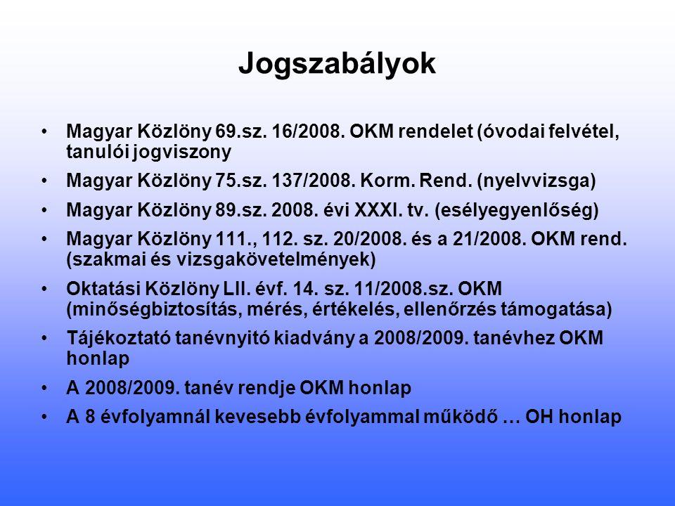 Jogszabályok Magyar Közlöny 69.sz. 16/2008.