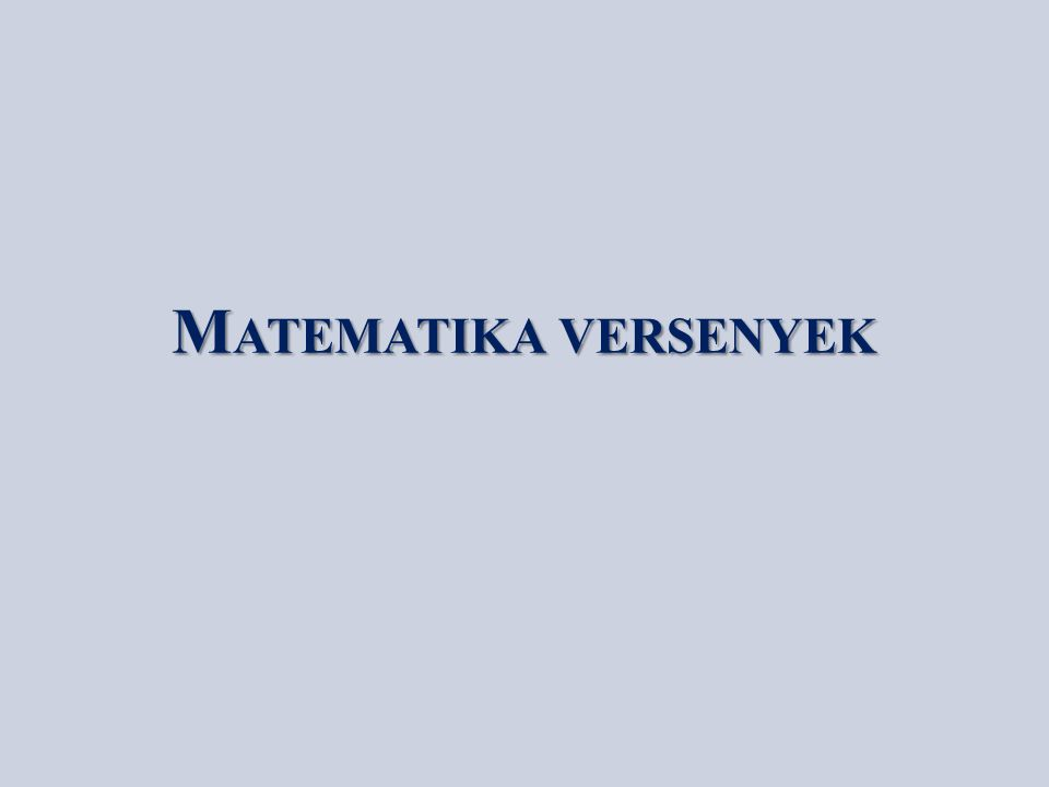 K ENGURU MATEMATIKA VERSENY