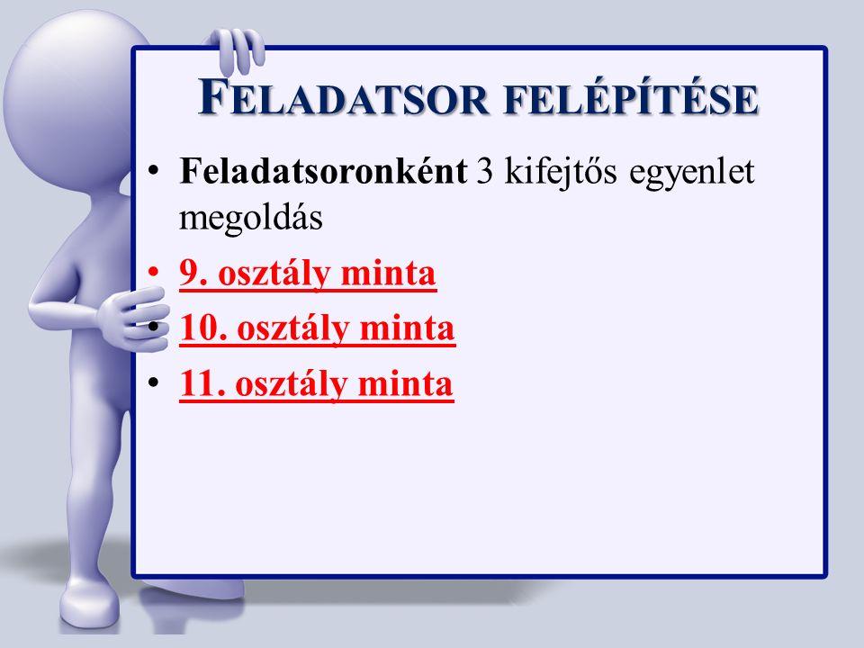 M OZAIK MATEMATIKA VERSENY